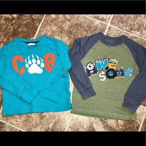 Boy's set of shirts Crazy 8 and Mix'n'Match  3T
